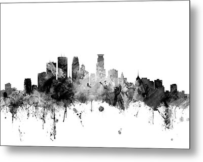 Minneapolis Minnesota Skyline Metal Print
