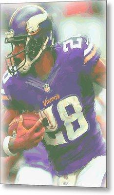 Minnesota Vikings Adrian Peterson Metal Print by Joe Hamilton