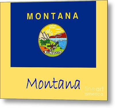 Montana Flag Metal Print by Frederick Holiday