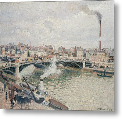 Morning, An Overcast Day, Rouen Metal Print