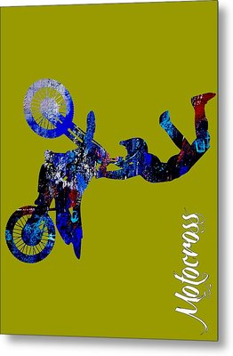 Motocross Collection Metal Print