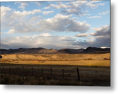 Mountain Meadow And Hay Bales In Grand County Metal Print by Carol M Highsmith