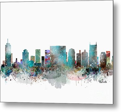 Nashville Tennessee Skyline  Metal Print by Bri B