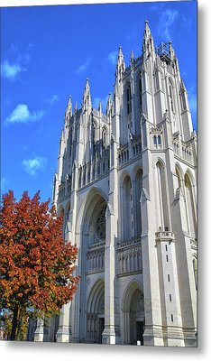 Metal Print featuring the photograph National Cathedral by Mitch Cat