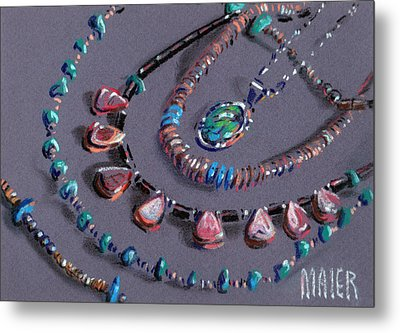 Navajo Jewelry Metal Print by Donald Maier