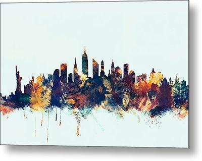 New York City Skyline Metal Print by Michael Tompsett