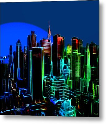 New York Colors Metal Print by Steve K