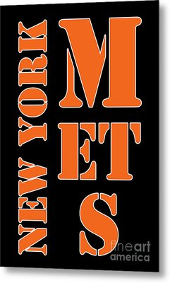 New York Mets Typography Metal Print by Pablo Franchi