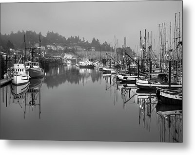 Newport Fishing Boats Metal Print by Jon Glaser