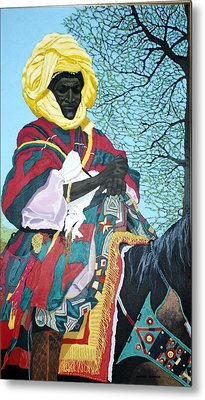 Nigerian On Horseback Metal Print by Bernard Goodman