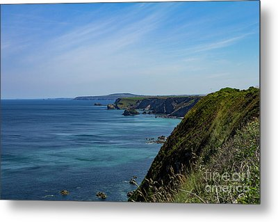 Metal Print featuring the photograph North Coast Cornwall by Brian Roscorla