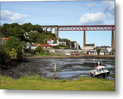Metal Print featuring the photograph North Queensferry by Jeremy Lavender Photography