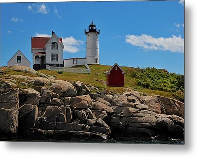 Nubble Lighthouse Metal Print by Luisa Azzolini