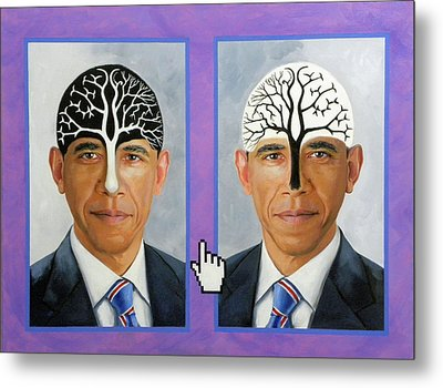 Obama Trees Of Knowledge Metal Print by Richard Barone