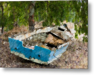 Old Boat  Metal Print by Benny Blitzblau