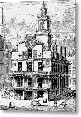 Old State House, Boston Metal Print by English School