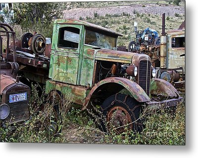 Old Truck Metal Print by Anthony Jones