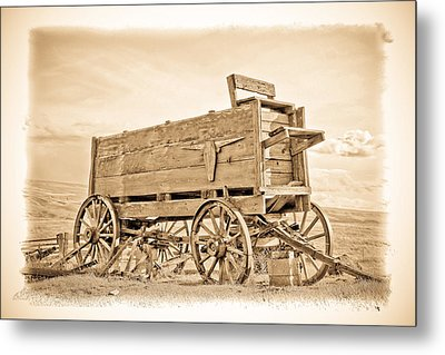 Old West Wagon  Metal Print by Steve McKinzie