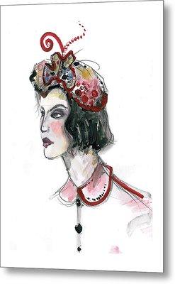 Original Watercolor Fashion Illustration Metal Print