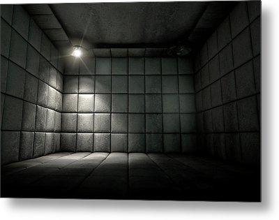 Padded Cell Dirty Spotlight Metal Print by Allan Swart
