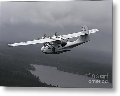 Pby Catalina Vintage Flying Boat Metal Print by Daniel Karlsson