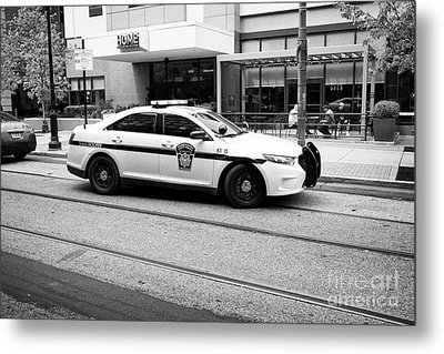 pennsylvania state trooper police cruiser vehicle Philadelphia USA Metal Print