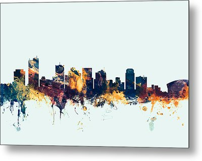 Phoenix Arizona Skyline Metal Print