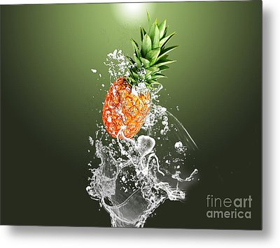 Pineapple Splash Metal Print by Marvin Blaine