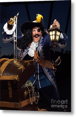 Pirate With A Treasure Chest Metal Print by Oleksiy Maksymenko