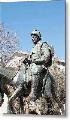 Plaza De Espana Cervantes Monument  Metal Print
