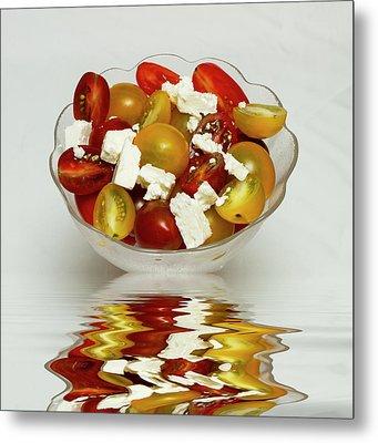 Plum Cherry Tomatoes Metal Print by David French