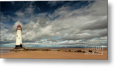 Point Of Ayre Lighthouse Metal Print by Adrian Evans