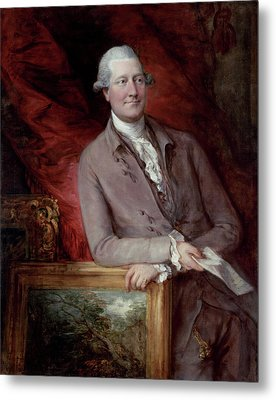 Portrait Of James Christie Metal Print by Thomas Gainsborough