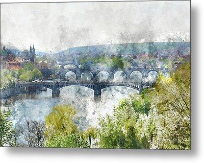 Prague Czech Republic Metal Print by Brandon Bourdages
