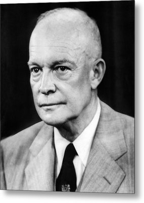 President Dwight D. Eisenhower Metal Print by Underwood Archives