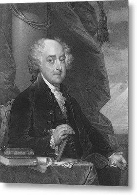 President John Adams Metal Print by War Is Hell Store