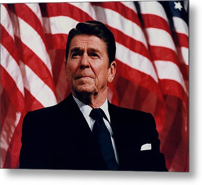 President Ronald Reagan Metal Print by War Is Hell Store