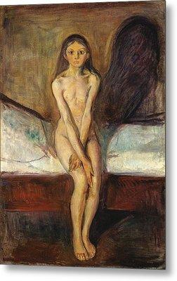 Puberty Metal Print by Edvard Munch