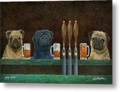 Pug Crawl... Metal Print