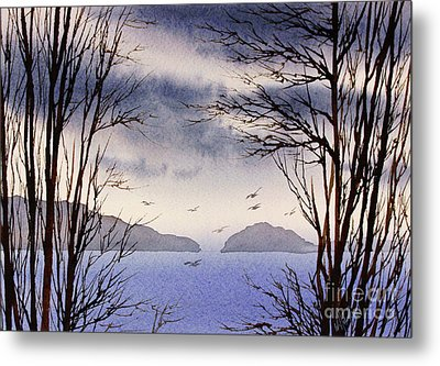 Metal Print featuring the painting Quiet Shore by James Williamson
