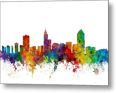 Raleigh North Carolina Skyline Metal Print