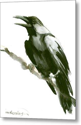 Raven Metal Print by Suren Nersisyan