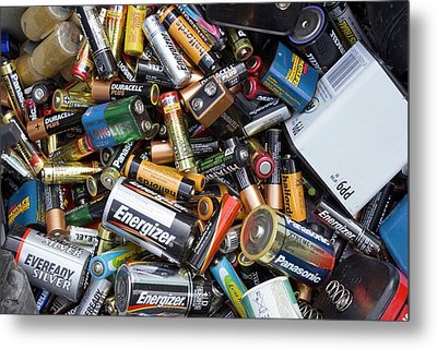 Recycling Centre Metal Print by Mark Williamson
