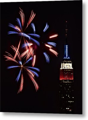 Red White And Blue Metal Print by Susan Candelario