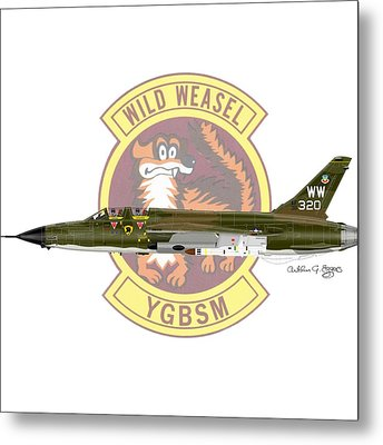 Republic F-105g Thunderchief 561tfs Metal Print by Arthur Eggers