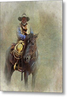 Metal Print featuring the photograph Ride Em Cowboy by David and Carol Kelly