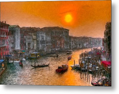 Metal Print featuring the photograph Riva Del Ferro. Venezia by Juan Carlos Ferro Duque