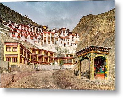 Rizong Monastery Ladakh Jammu And Kashmir India Metal Print