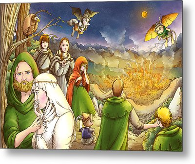 Robin Hood And Matilda Metal Print