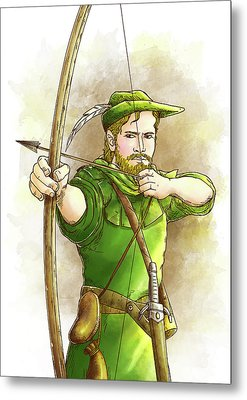 Robin Hood The Legend Metal Print